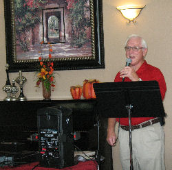 Charles sings at Manor House monthly