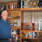 "Charles ""man room"" where he keeps all his music."